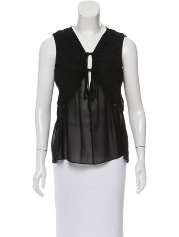 Vanessa Bruno Sleeveless Sheer Top None