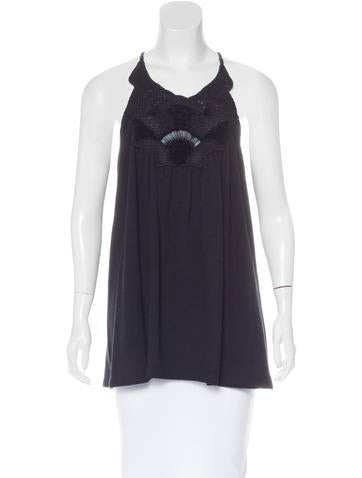 Vanessa Bruno Wool Embellished Top None