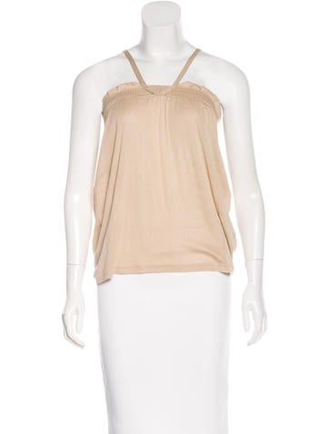 Vanessa Bruno Ruffled Sleeveless Top None