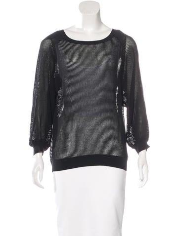 Vanessa Bruno Open Knit Three-Quarter Sleeve Sweater None