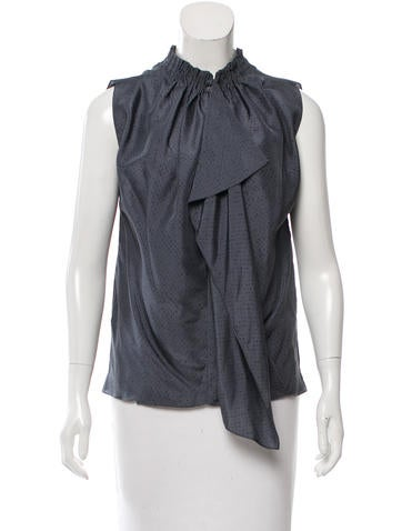 Vanessa Bruno Silk Sleeveless Top None