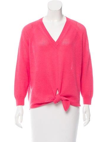 Vanessa Bruno Wool Open Knit Sweater None
