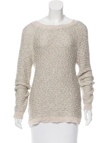 Vanessa Bruno Metallic-Accented Knit Sweater None