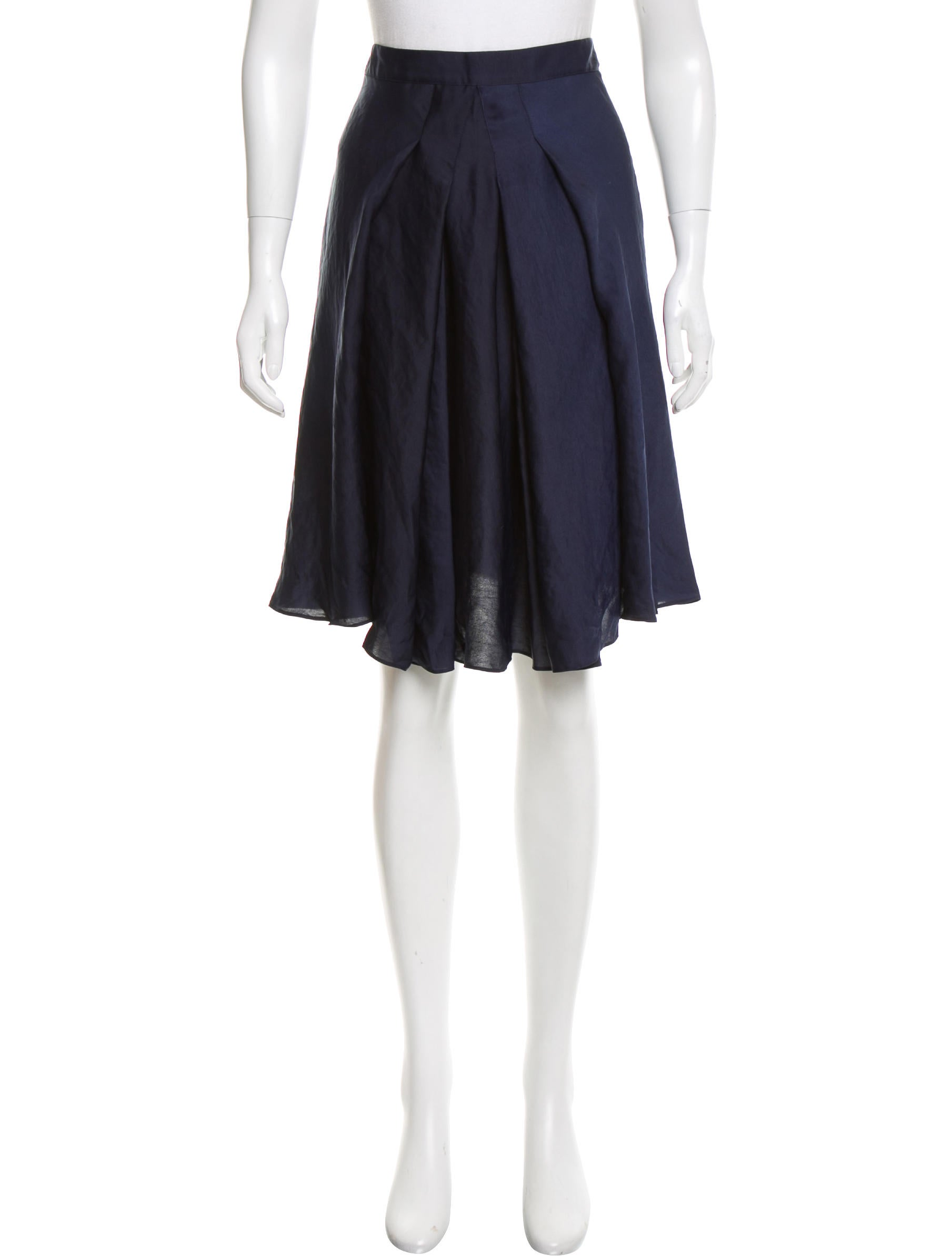 bruno pleated knee length skirt clothing