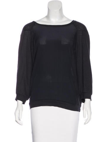Vanessa Bruno Silk-Accented Knit Top None