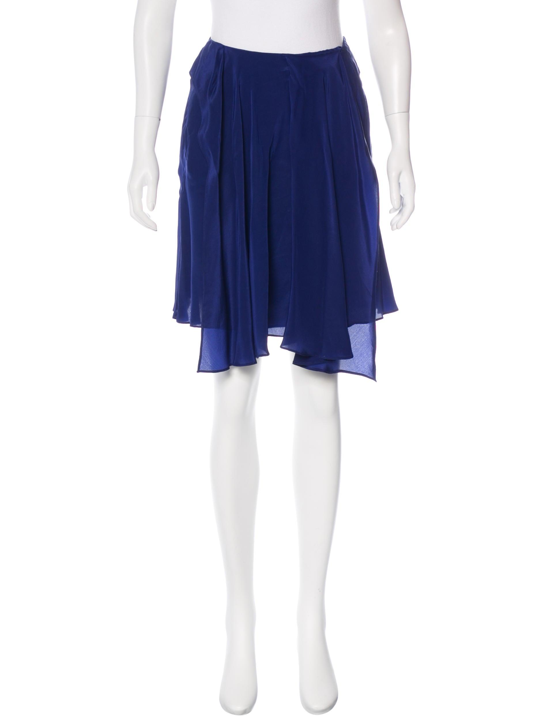 bruno silk pleated skirt clothing van23290