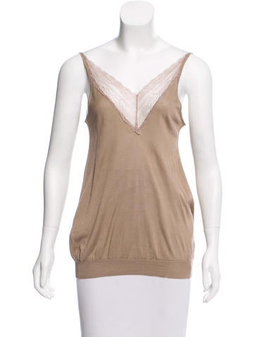Vanessa Bruno Silk Sleeveless Knit Top None