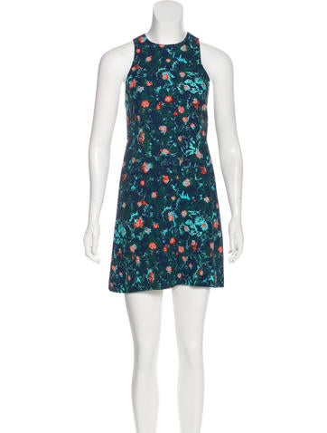 Vanessa Bruno Floral Print Mini Dress None