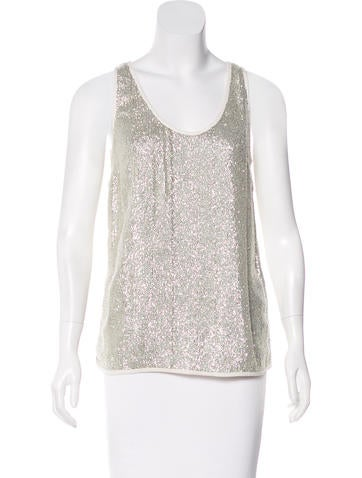 Vanessa Bruno Metallic Sleeveless Top w/ Tags None
