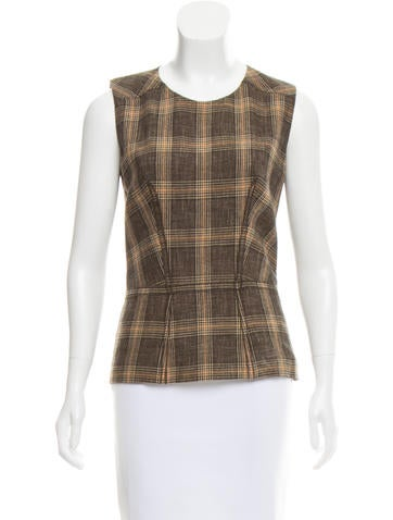 Vanessa Bruno Wool Plaid Top w/ Tags None