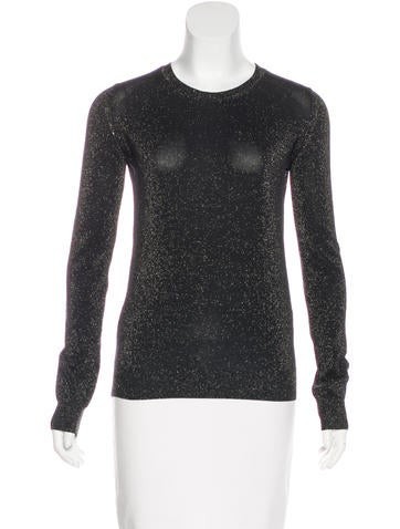 Vanessa Bruno Metallic Knit Sweater None