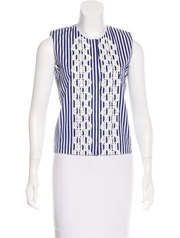 Vanessa Bruno Sleeveless Striped Top None