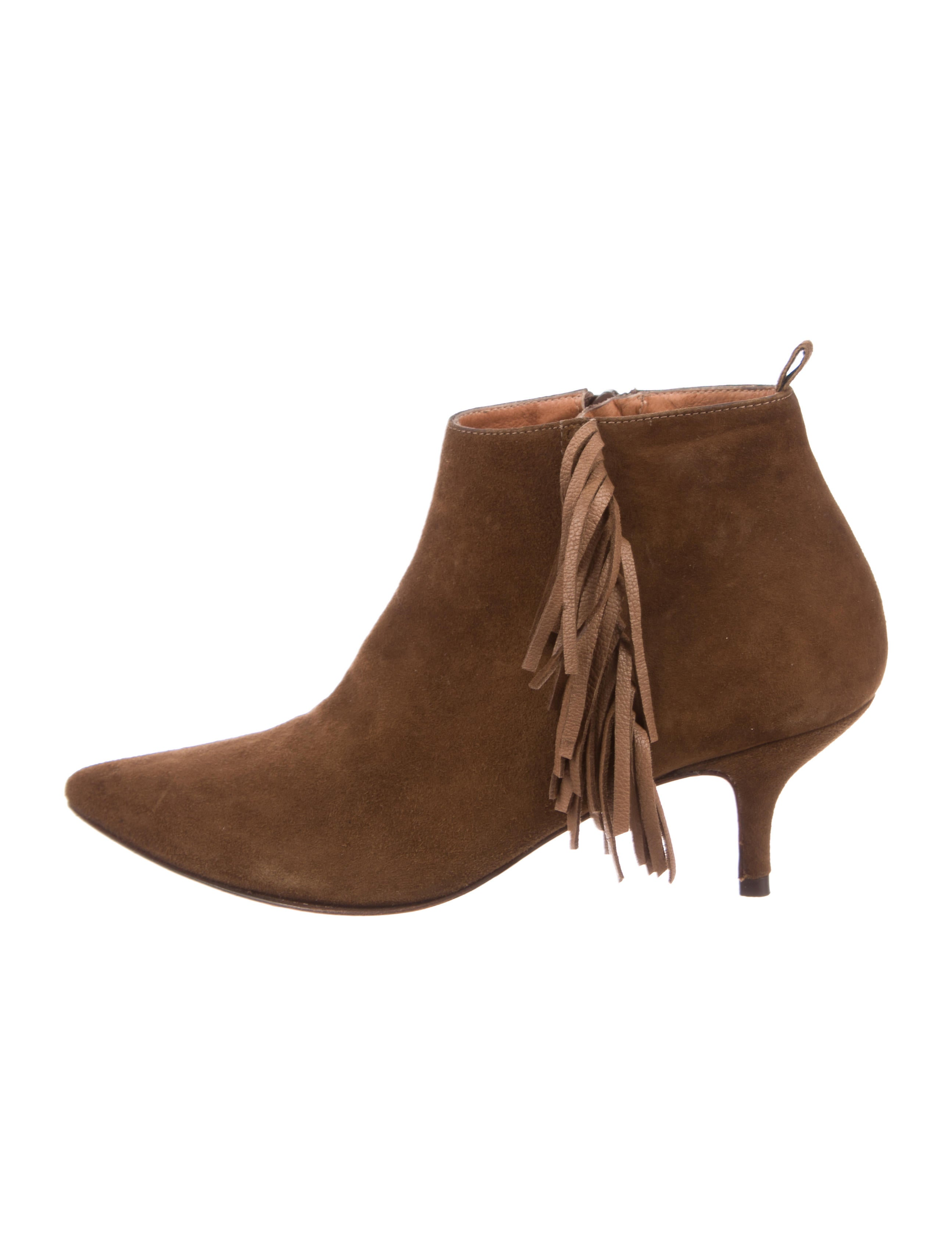 Vanessa Bruno Suede Fringe Booties perfect cheap price free shipping comfortable joUPiq4