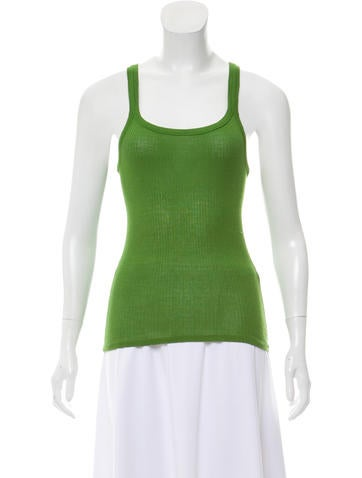 Vanessa Bruno Sleeveless Rib Knit Top None