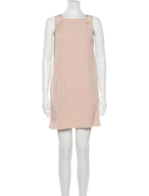 Vanessa Bruno Bateau Neckline Mini Dress Pink