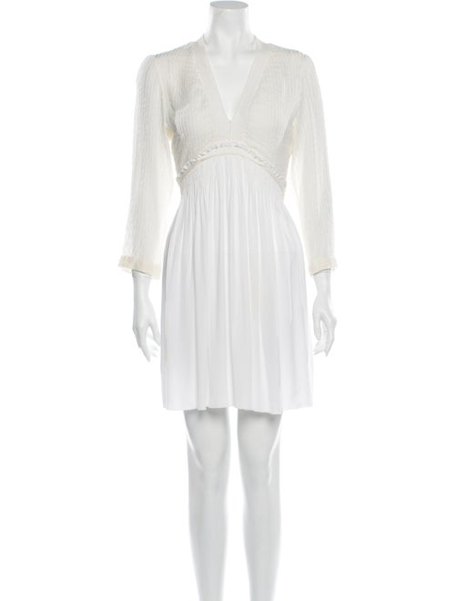 Vanessa Bruno V-Neck Mini Dress White