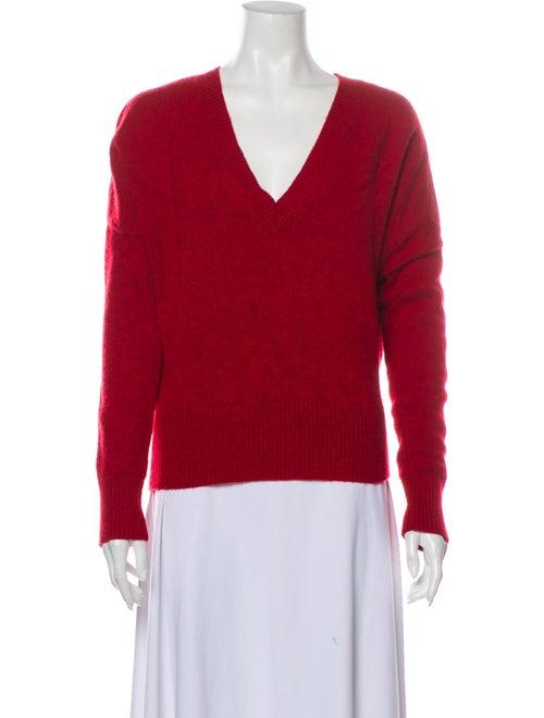 Vanessa Bruno V-Neck Sweater Red
