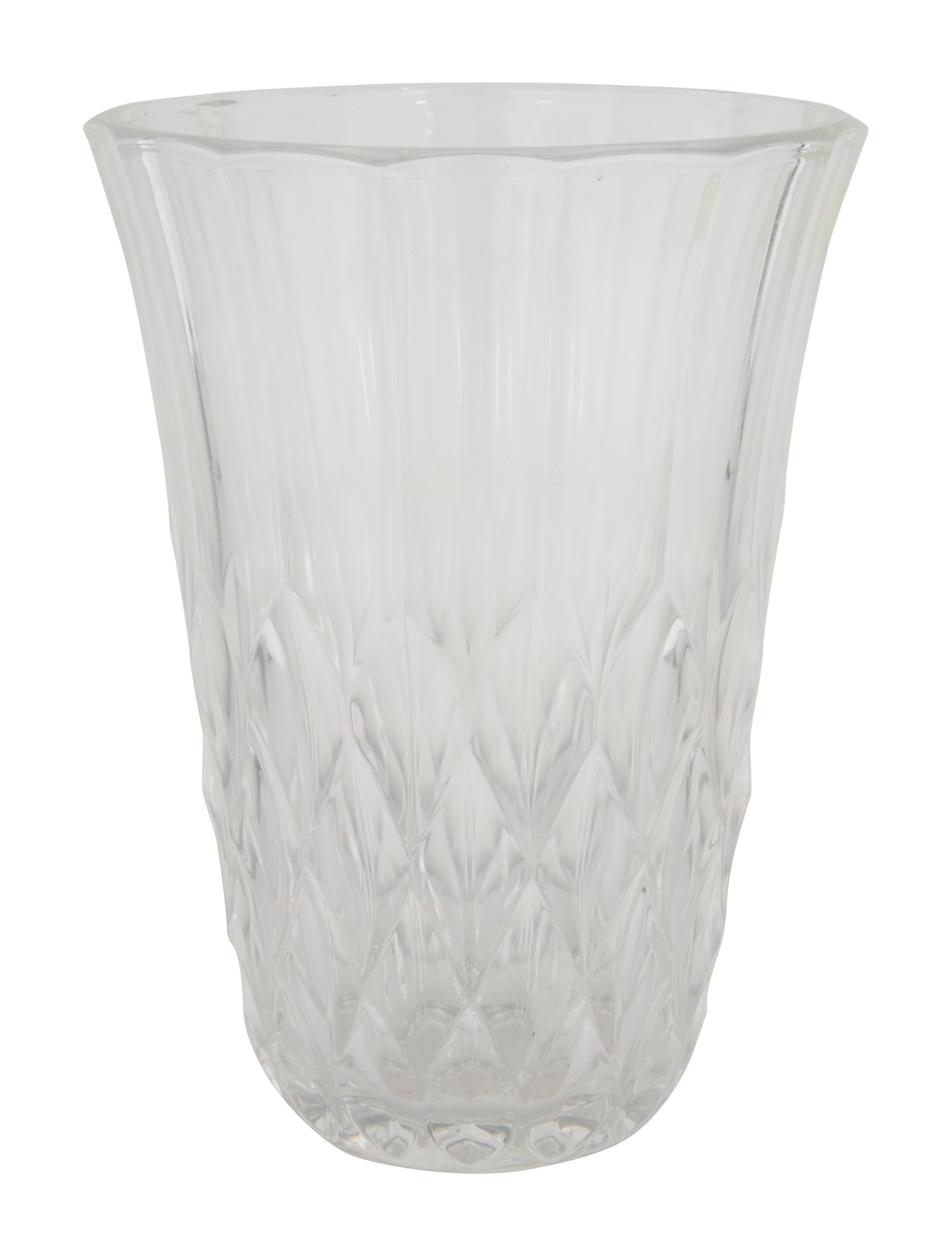 Val st lambert crystal imperial flower vase decor and for Imperial home decor