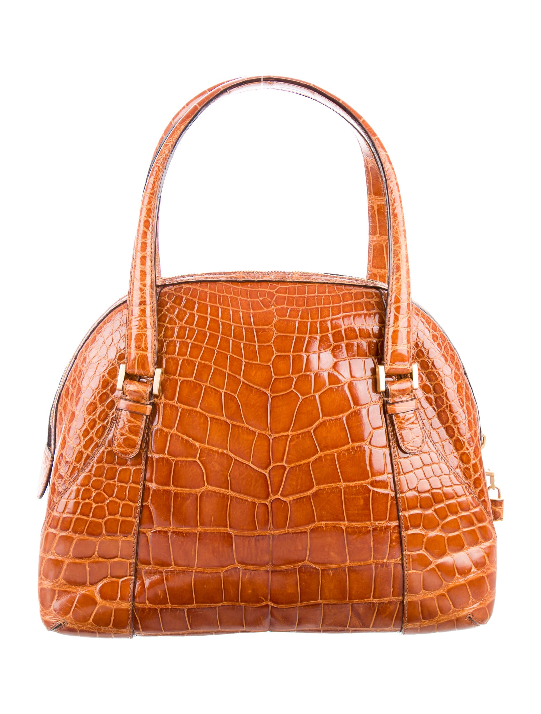 Valextra Alligator Shoulder Bag - Handbags
