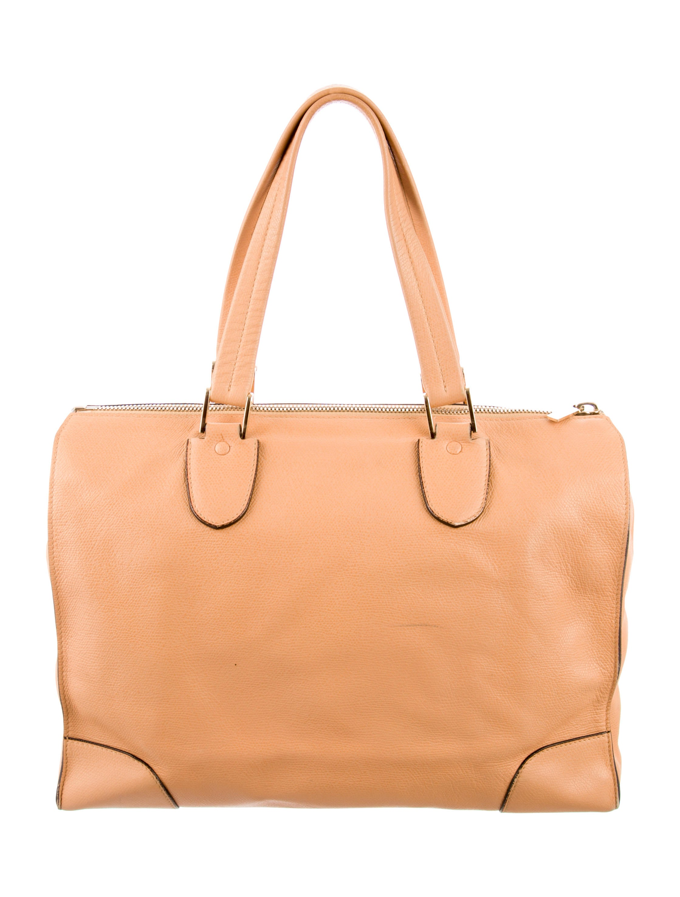 Valextra Leather Babila Bag - Handbags
