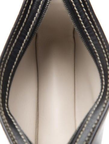 Textured Leather Wristlet