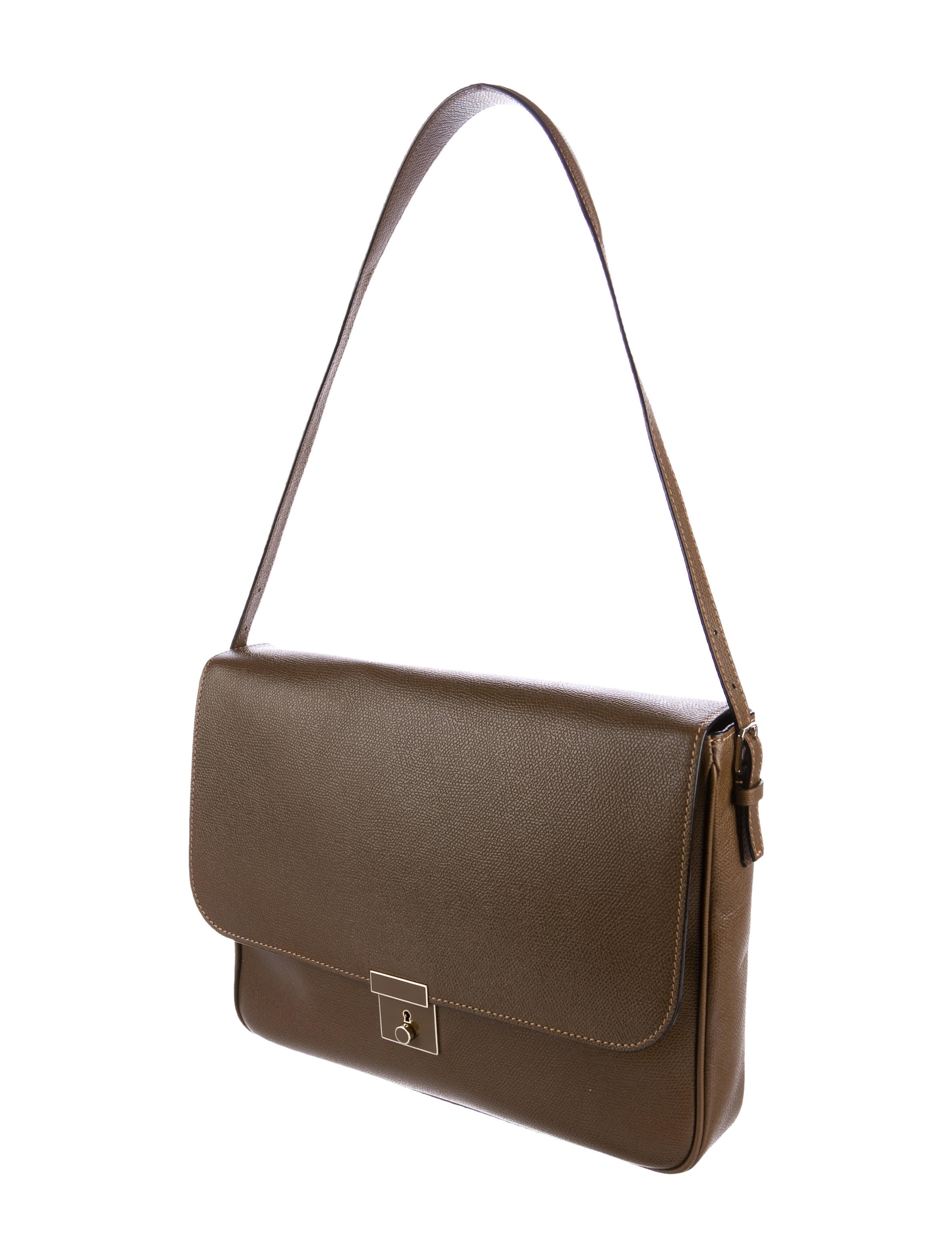 Valextra Leather Shoulder Bag - Handbags