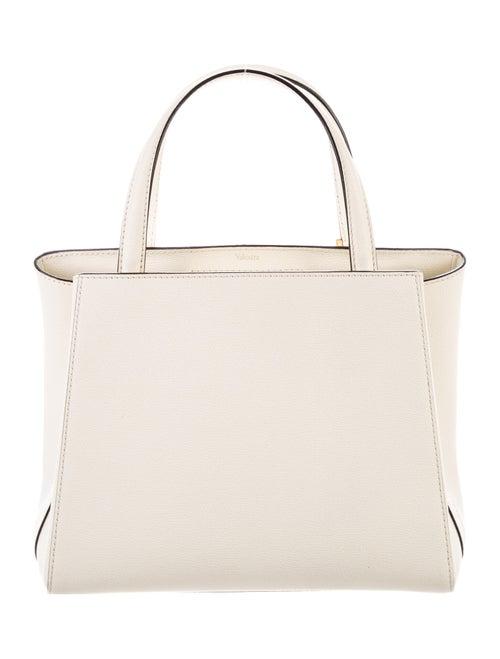 Valextra Leather Satchel Bag White