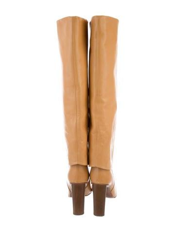 Veronique Branquinho Knee High Fold Over Boots Shoes