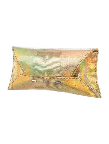 Holographic Manila Clutch