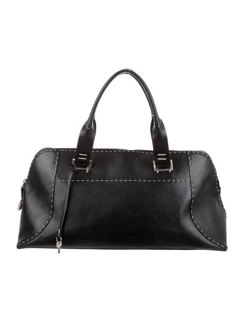 VBH Leather Handle Bag Black