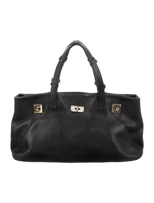 VBH Leather Tote Bag Black