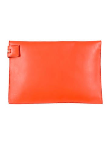 Large Leather Zip Pouch