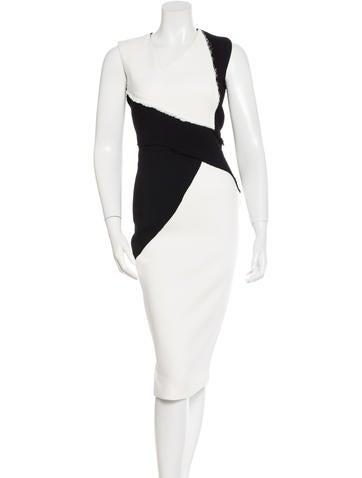 Victoria Beckham Colorblock Sheath Dress
