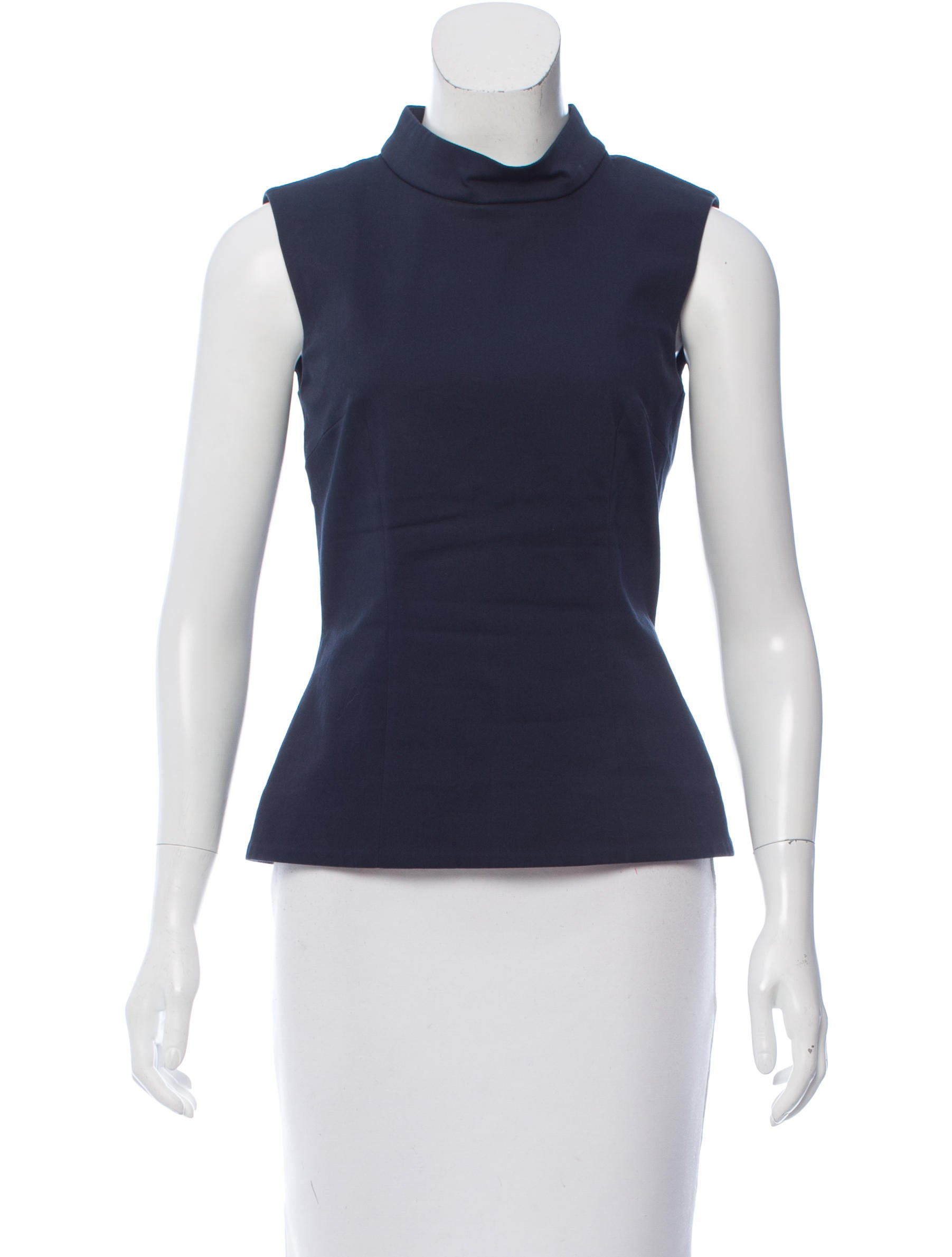Victoria beckham sleeveless mock neck top clothing for Sleeveless mock turtleneck shirts
