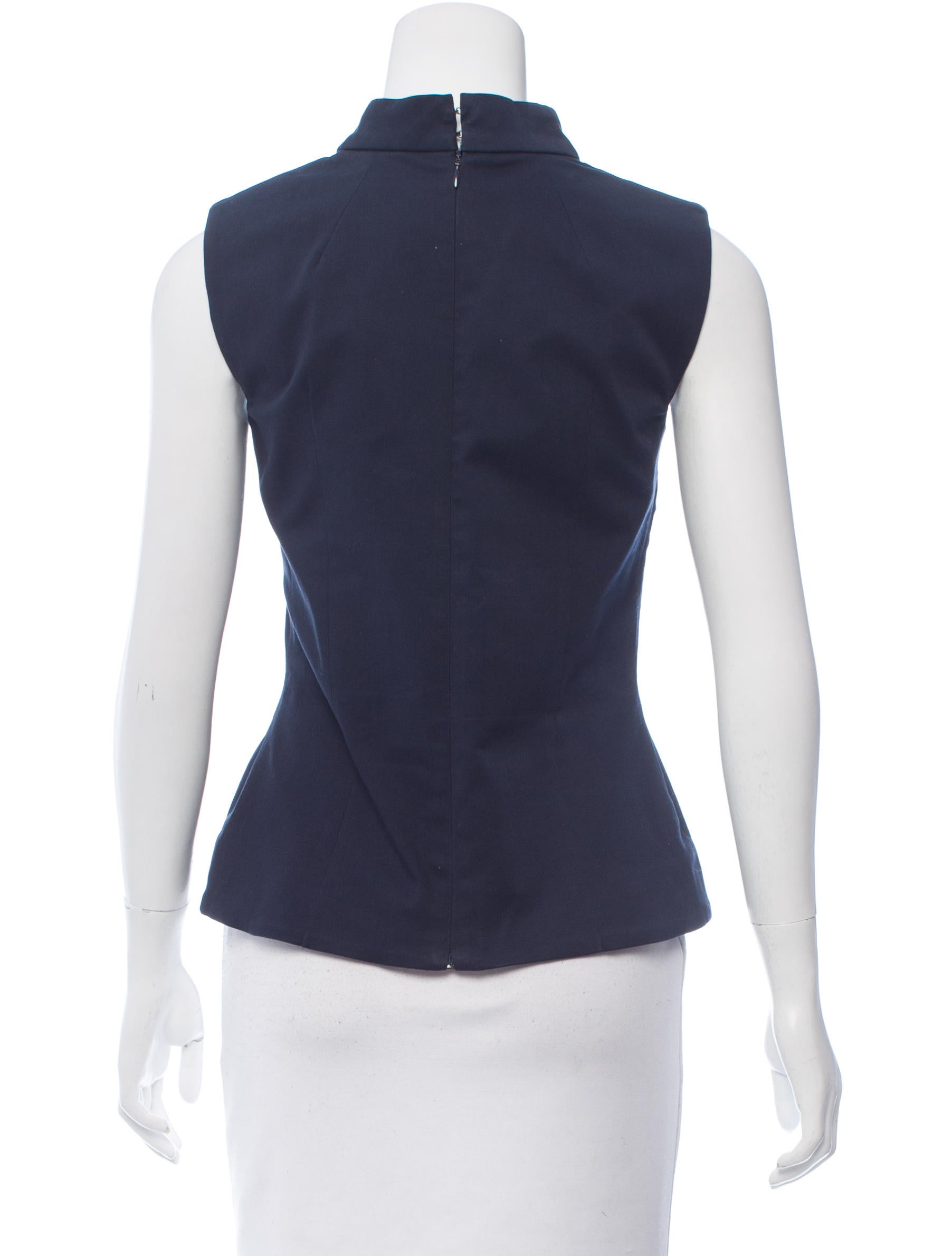 Victoria Beckham Sleeveless Mock Neck Top Clothing