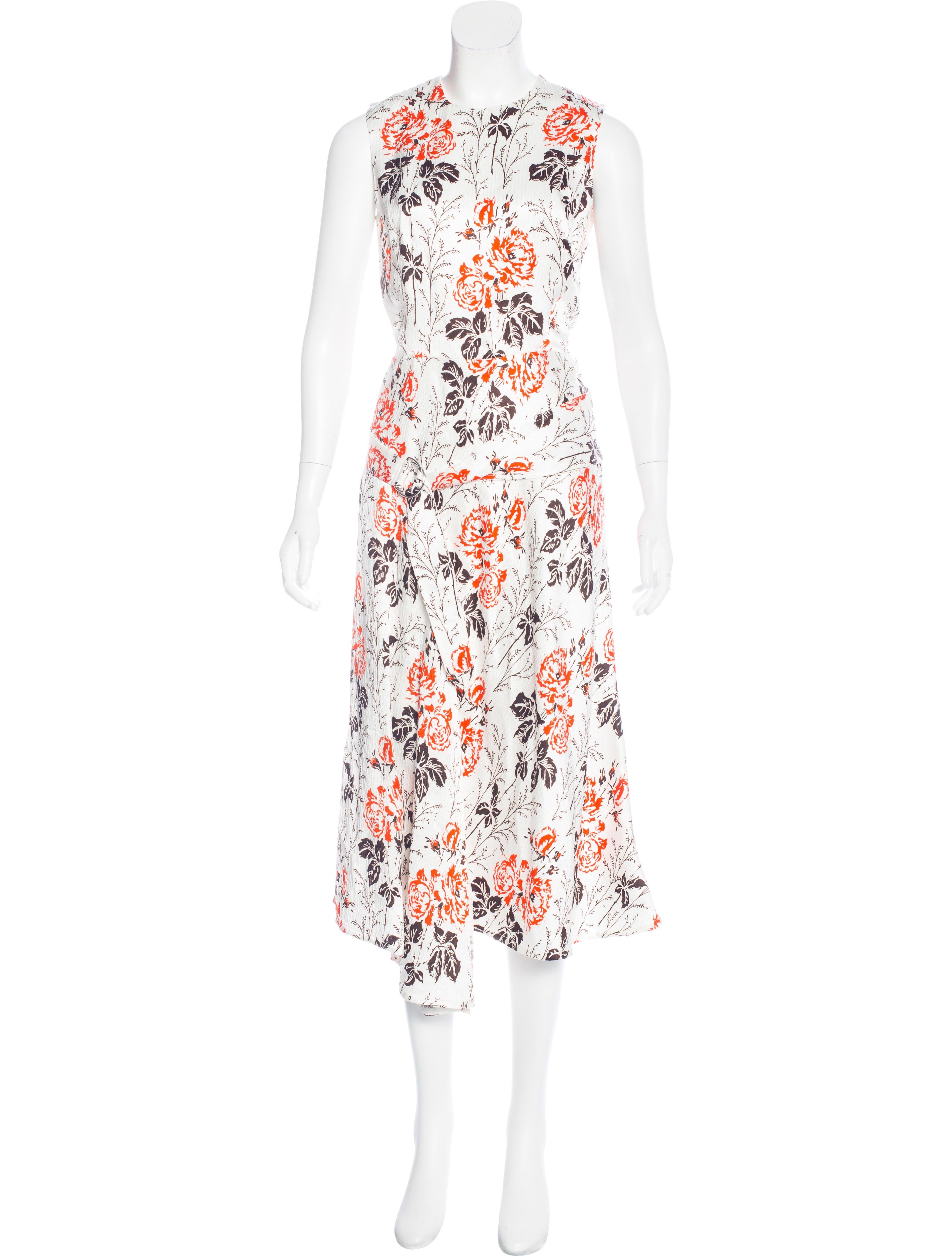 beckham floral print belted dress clothing