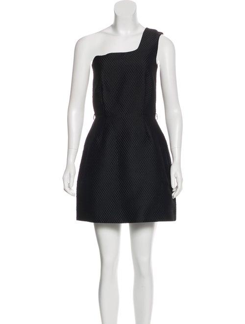 Victoria Beckham Quilted One-Shoulder Dress Black