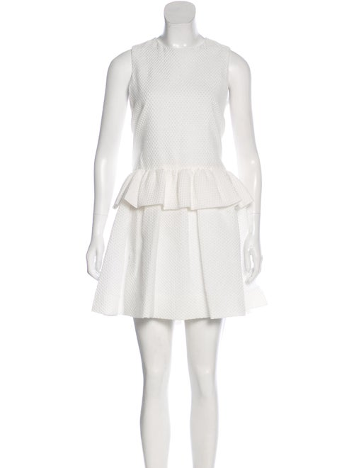Victoria Beckham Seersucker Ruffle Dress w/ Tags
