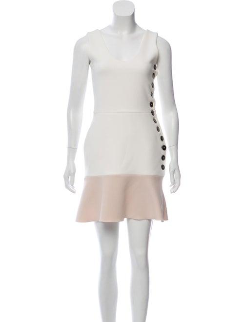 Victoria Beckham Flared Mini Dress champagne