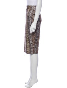 Victoria Beckham Animal Print Knee-Length Skirt w/ Tags