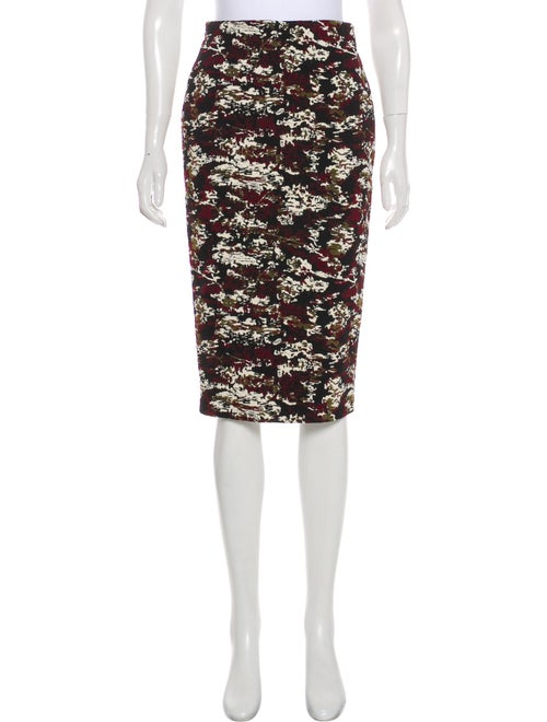 Victoria Beckham Embroidered Pencil Skirt black