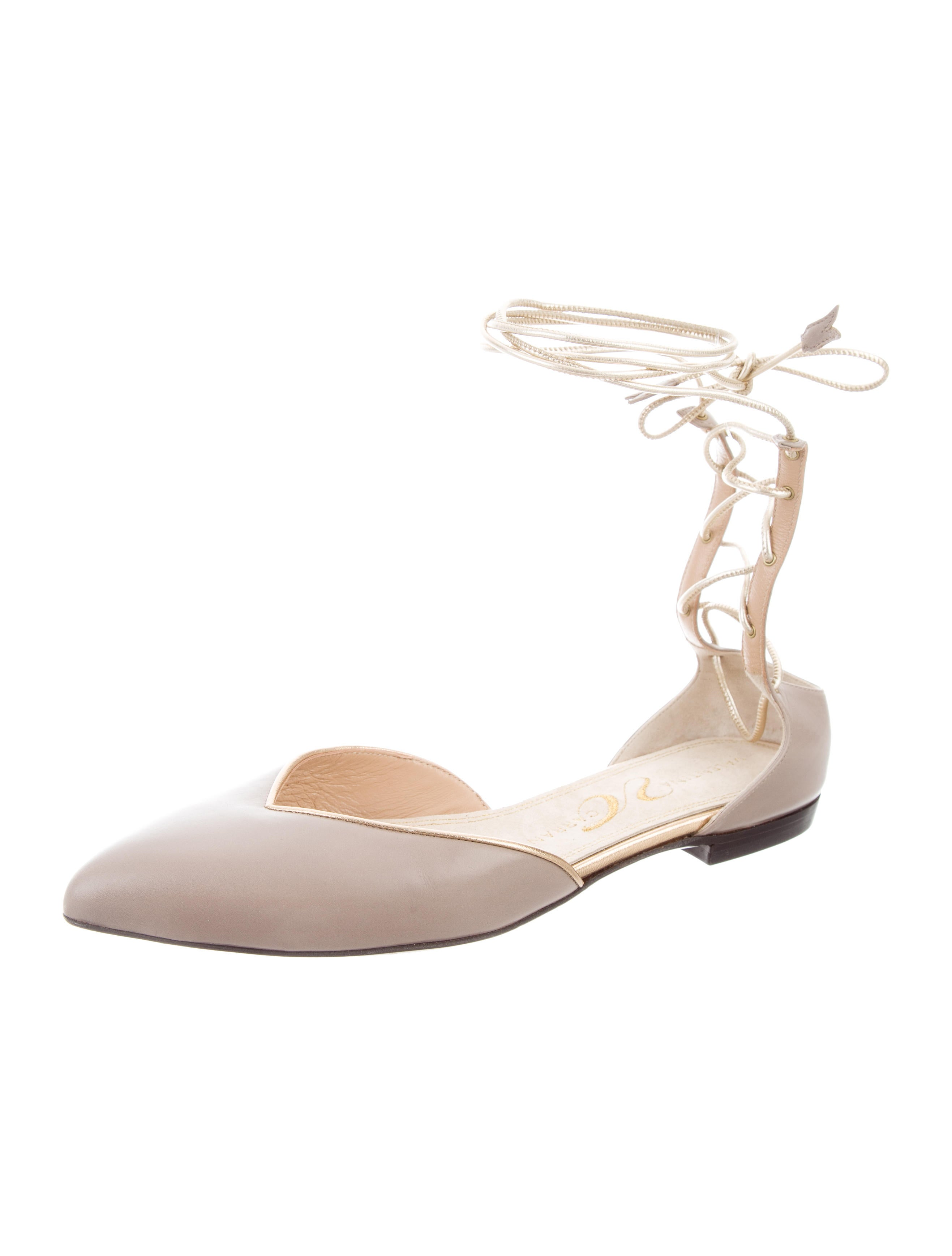 cheap sale the cheapest buy cheap lowest price Valentina Carrano Cutout Pointed-Toe Flats cheap price buy discount cheap eastbay cheap sale shop for pUaQmz