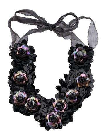 Sequin Bib Necklace