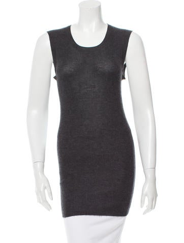 Vera Wang Cashmere Sleeveless Top None
