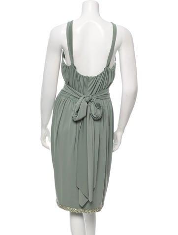 Sequin-Embellished Sleeveless Dress