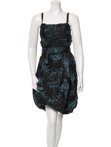 Vera Wang Floral Print Sleeveless Dress
