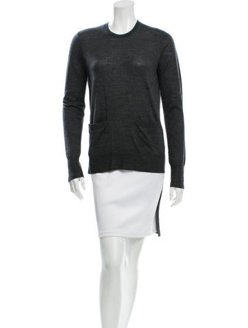 Vera Wang Wool High-Low Top None