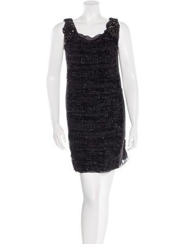 Vera Wang Embellished Mini Dress None