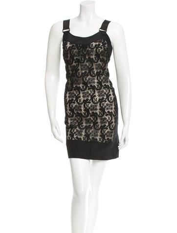 Vera Wang Lace Mini Dress None