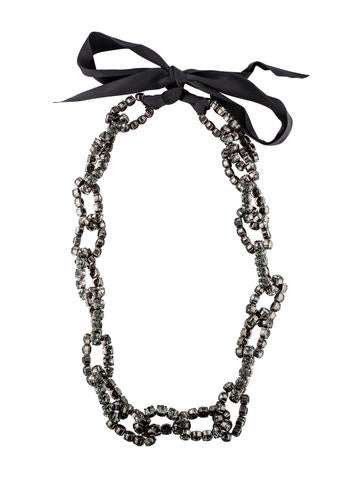 Vera Wang Crystal Curb Chain Necklace